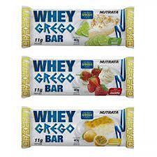 Whey Grego Barra de Proteína 40g - Nutrata