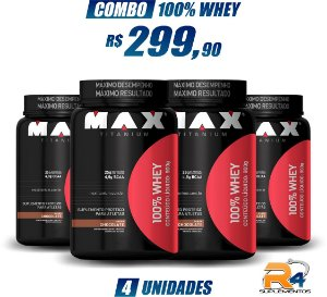Combo 100% WHEY PROTEIN 900g - MAX TITANIUM