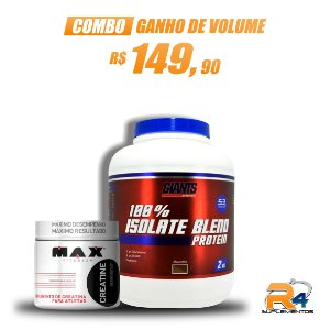 Combo Ganho de Volume 100% Isolate Blend + Creatina 100g