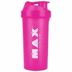 Coqueteleira Shaker Rosa 700ml - Max Titanium
