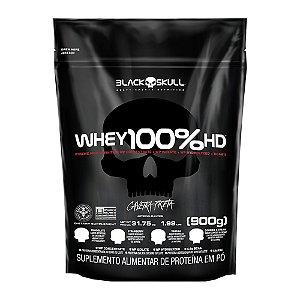 Whey 100% Hd Refil 900g Black Skull Concentrado, Isolado e Hidrolisado