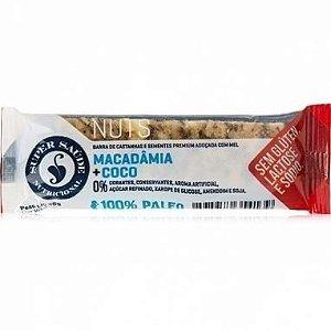 Barra Nuts Macadâmia e Coco 25g - Super Saúde