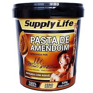 Pasta de Amendoim Adoçado com Agave 500g - Supply Life