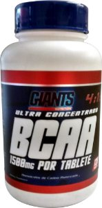 BCAA 4:1:1 com 60 Tabletes de 1500mg cada - Giants Nutrition