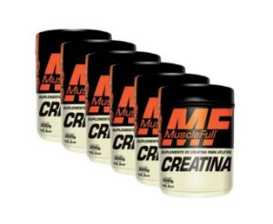 Kit com 6 Creatinas 300g Monohidratada - Muscle Full - Massa Muscular