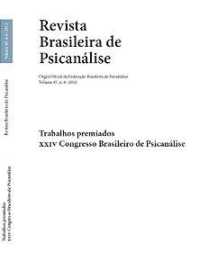 v.47 nº4 - Trabalhos premiados - XXIV Congresso Brasileiro de Psicanálise