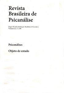 v.43 nº3 - Psicanálise: Objeto de estudo