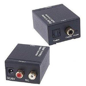 Conversor Audio Optico para RCA Stereo