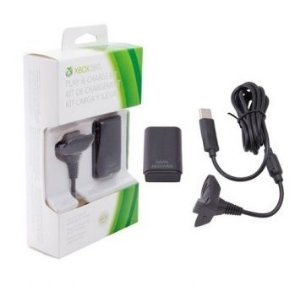 Cabo USB e bateria de Xbox 360