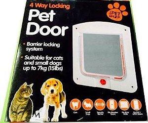 Porta para Gatos ou Cachorros 4 Em 1 - Pet Door