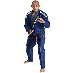 Kimono Red Nose Top World Jiu-jitsu - Azul/Verde Neon