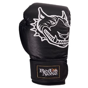 Luvas de Boxe Muay Thai Standard Preto - Red Nose