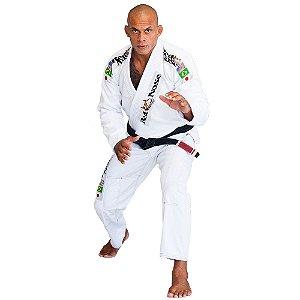 Kimono Red Nose Top World Jiu-Jitsu - Branco/Vermelho