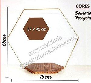 Base Hexagonal Para Bolo Com Aro Hexagonal