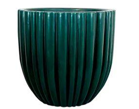 Vaso de Polipropileno  Redondo Cacau - Verde - 42 x 54 cm