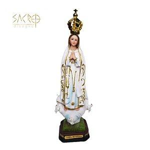 Imagem Nossa Senhora de Fátima resina 23cm importada