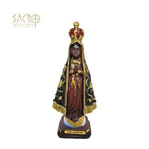 Imagem Nossa Senhora Aparecida resina 13cm importado