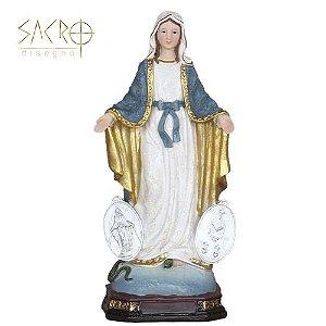 Imagem Nossa Senhora Das Graças Resina Importado 20cm