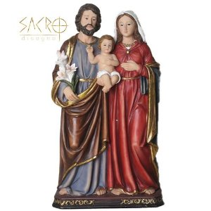Imagem Sagrada Família Resina 20cm Importada