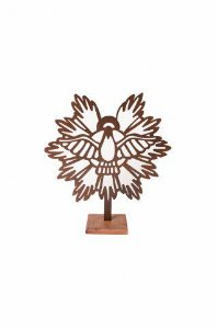 Escultura De Aço Galvanizado Estátua Espírito Santo 18cm