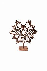 Escultura De Aço Galvanizado Estátua Espírito Santo 50cm
