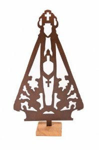Escultura De Aço Galvanizado Nossa Senhora Aparecida 28cm