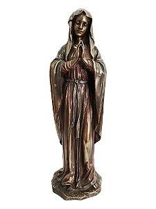 Imagem Nossa Senhora Orando Resina Bronze Importada 30cm