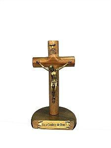 Crucifixo de mesa 12 cm Cilíndrico - Madeira