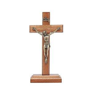 Crucifixo de mesa 12cm - Madeira