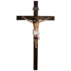Crucifixo de  Parede Madeira 1,2m Resina