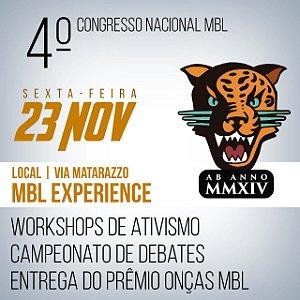 Ingresso 4º Congresso Nacional MBL - Dia 23 de Novembro