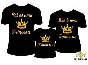 Camiseta Personalizada Kit Princesa (3pçs)