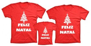 Kit Camiseta Feliz Natal (3 peças)