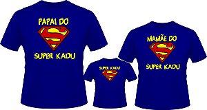 Camiseta Personalizada Superman Aniversário Kit 3 Unidades
