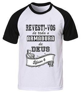 Camiseta Evangélica Gospel Raglan Personalizada