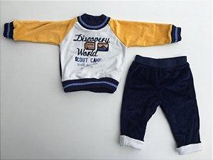 Conjunto de Plush  Blusão e Calça Discovery World