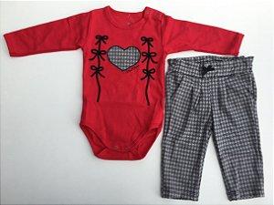 Conjunto Frufru Inverno - body e calça estilosa