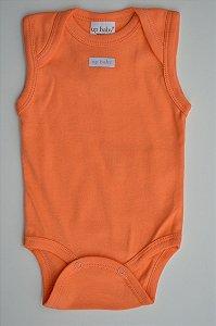 Body Regata em Suedine bebê básico melão