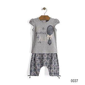 Conjunto de Camiseta e bermuda saruel Espelho