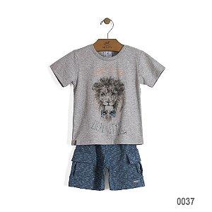 Conjunto camiseta e shorts cargo Leão