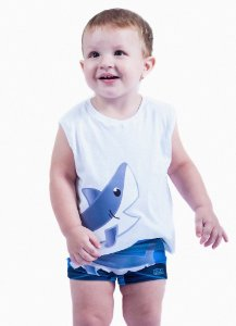 Conjunto Bebê Tubarão