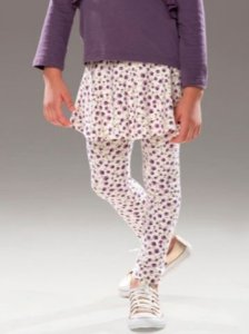 Legging com saia Floral