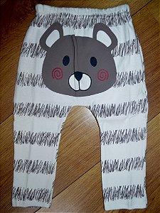 Calça Carinha de Urso