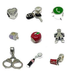 Berloques para Pulseira Modelo Life / Pandora ( Beads / Charms )
