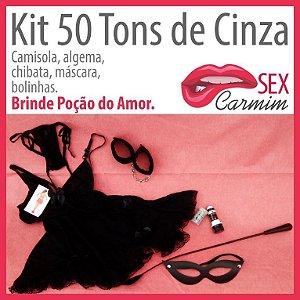 Kit 50 Tons de Cinza
