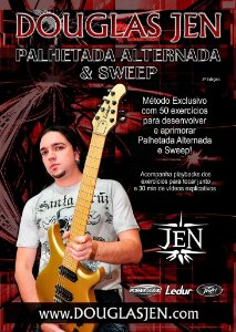 Método de Palhetada Alternada e Sweep Picking - 50 exercícios com playbacks e vídeos explicativos