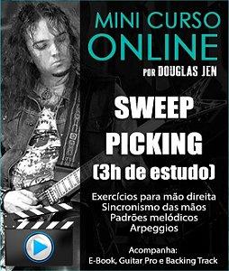 MINI CURSO DE SWEEP PICKING - AVANÇADO - 3h de estudo