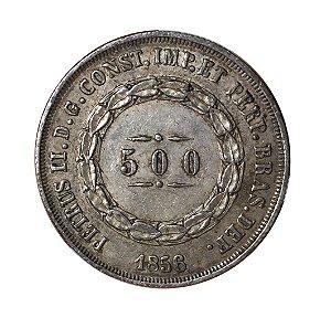 Moeda Antiga do Brasil 500 Réis 1856