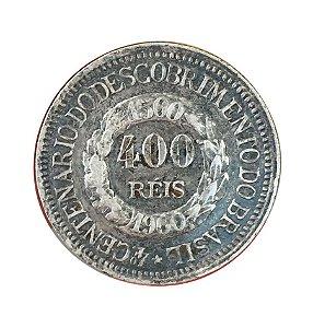 Moeda Antiga do Brasil 400 Réis 1900 - 4º Centenário do Descobrimento do Brasil