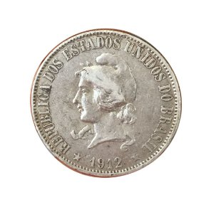 Moeda Antiga do Brasil 2000 Réis 1912